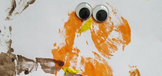 Handimals Hand Print Art Owl