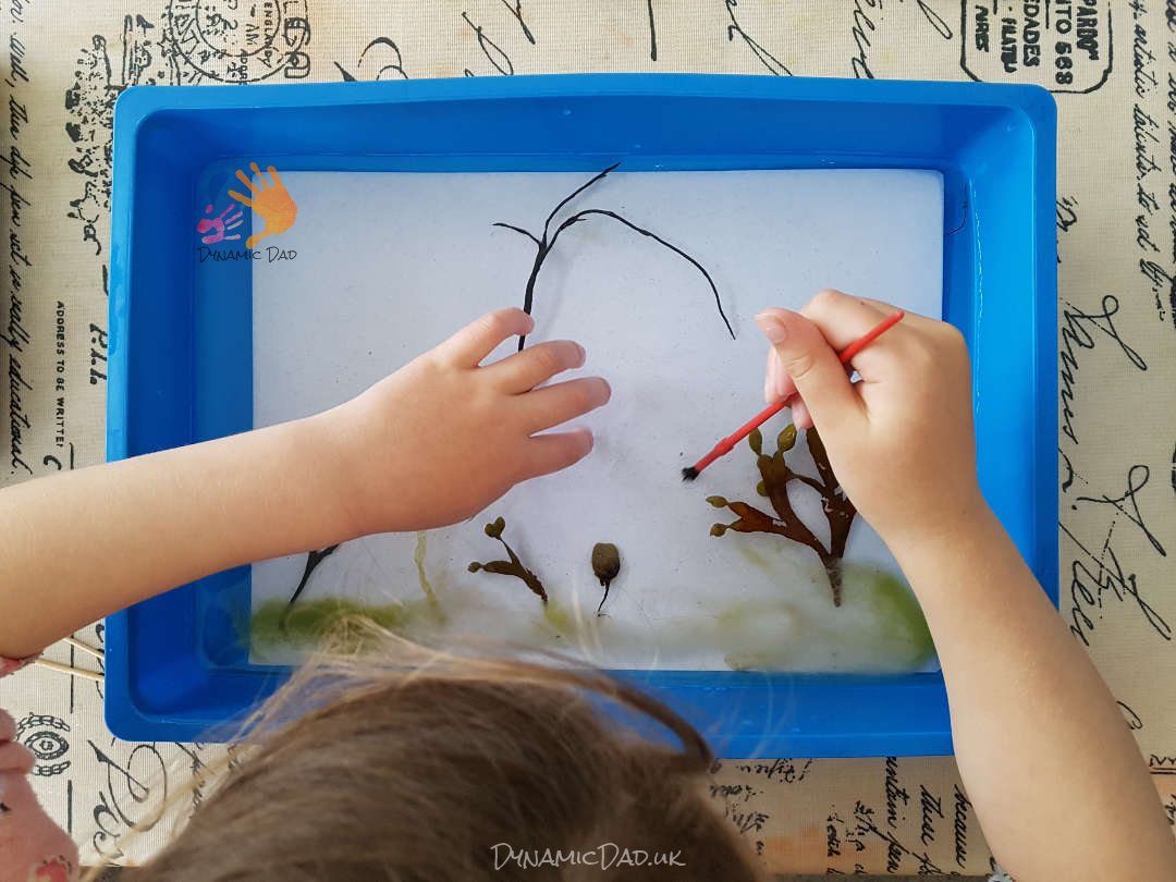 Arranging The Seaweed Print - Seaweed Prints - Dynamic Dad