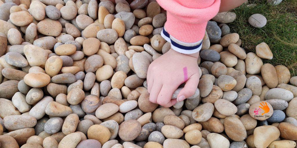 Choosing rocks - Rock Hunting - Dynamic Dad