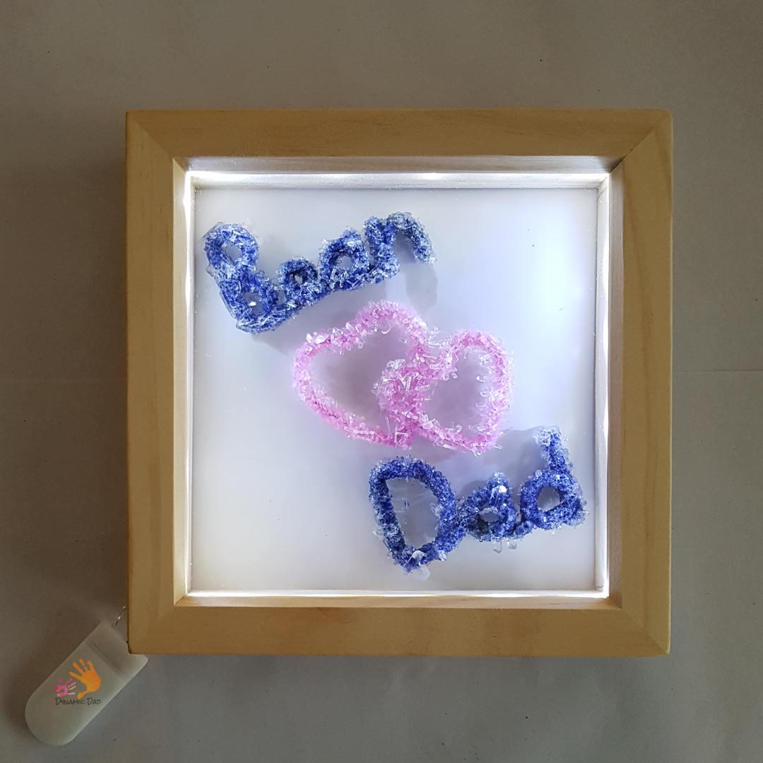 Lighted Framed Pipe Cleaner Crystal Names - Dynamic Dad