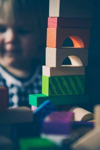 wooden blocks - why screen time is bad parenting - Dynamic Dad