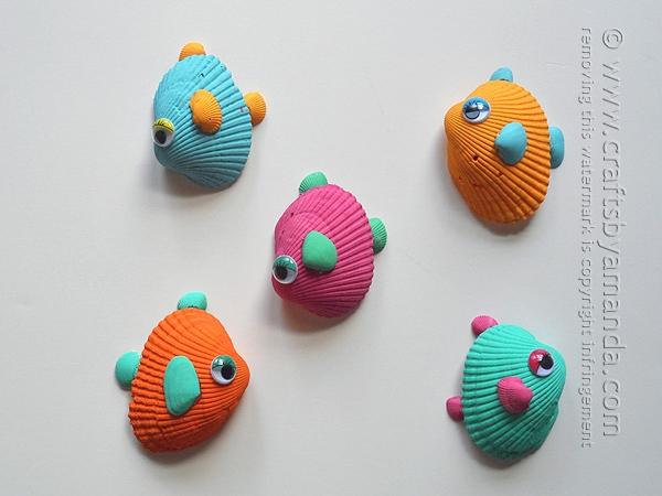 tropical-seashell-fish summer craft ideas dynamic dad
