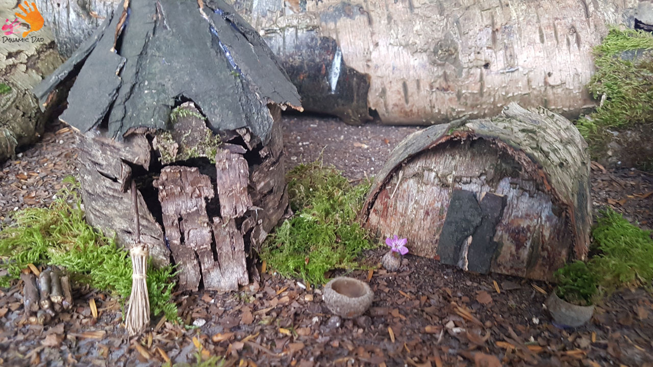 Fairy house, witches house, goblin den - how to make a fairy house - dynamic dad