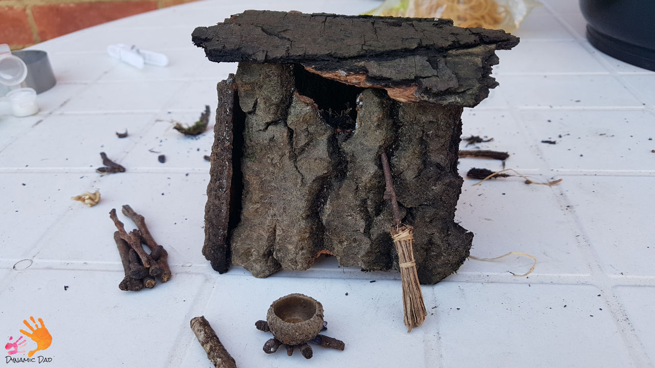 Trial witches hut - how to make a fairy house - dynamic dad