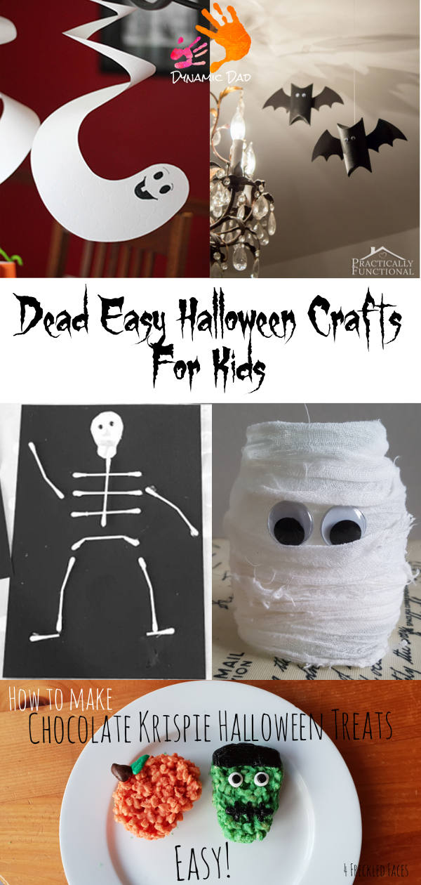 Dead Easy Halloween Crafts for kids - dynamic dad