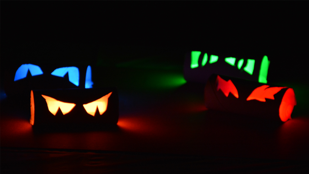 creepy toilet-paper-eyes to halloween craft activities dynamic dad