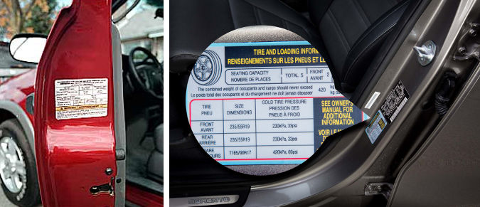 tyre pressure sticker how to prepare your car for winter dynamic dad
