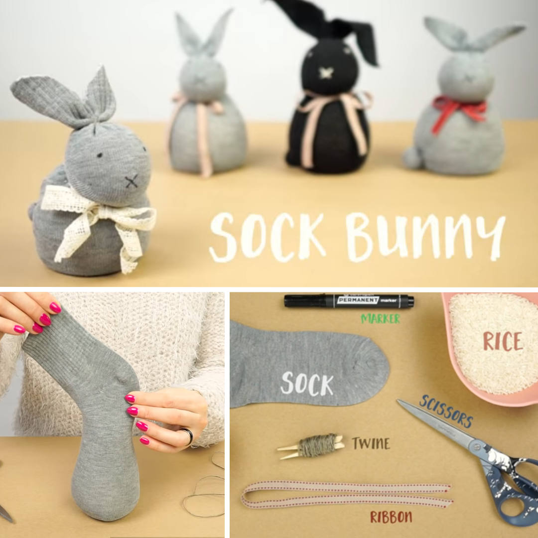 How To Make A No Sew Sock Bunny Kids Craft Activity - Dynamic Dad - Diy Crafts